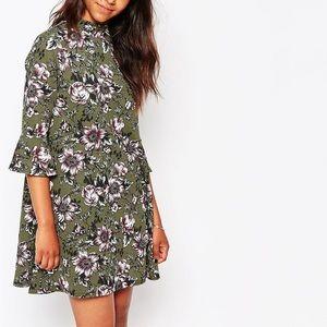 ASOS - Daisy Street Green Floral Dress - Size 6/XS